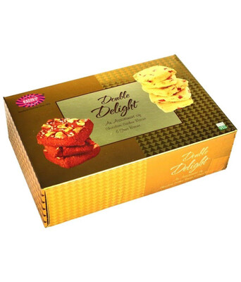 KARACHI BAKERY GOLD DOUBLE DELIGHT BISCUITS 400GM