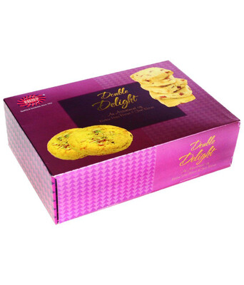 KARACHI BAKERY PINK DOUBLE DELIGHT BISCUITS 400GM