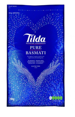 TILDA BASMATI RICE 20KG (Delivery in BRUSSELS AND GENT ONLY!)