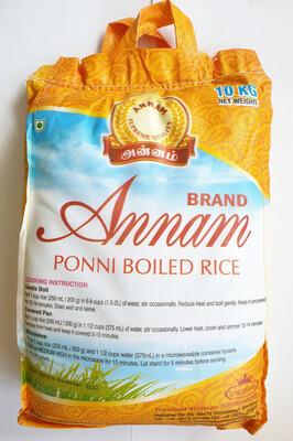 ANNAM PONNI BOILED RICE 10KG