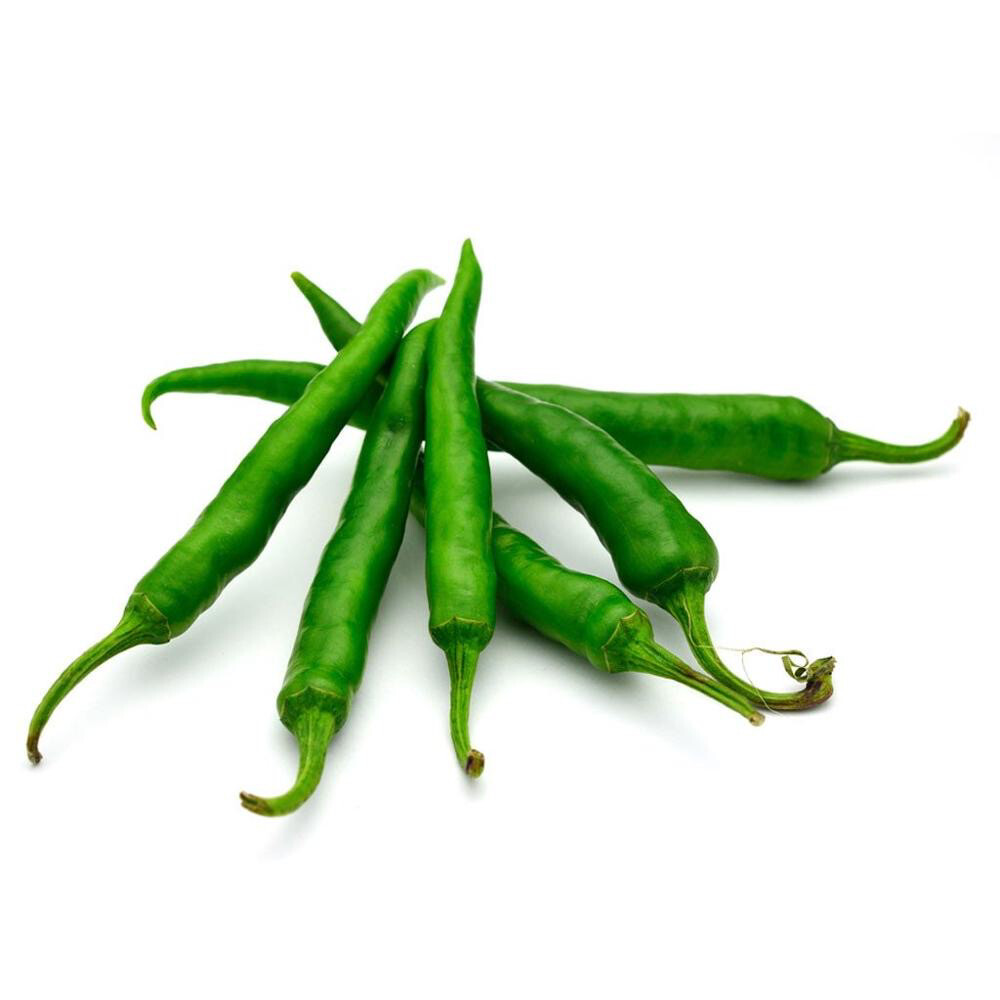 FRESH GREEN CHILLI 250GM (Delivery in BRUSSELS AND GENT ONLY!)