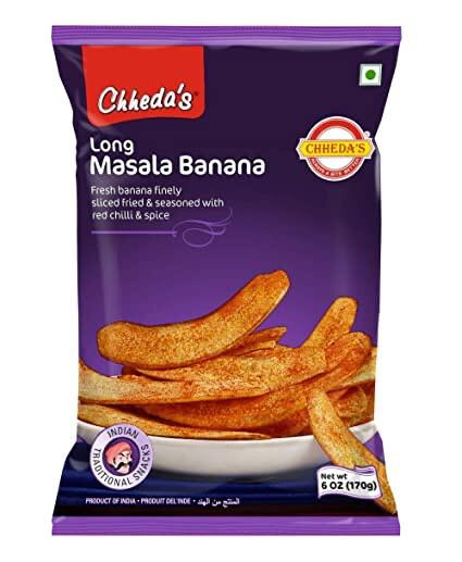 CHHESA'S LONG MASALA BANANA CHIPS 170GM