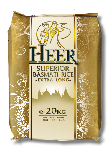 HEER LONG GRAIN BASMATI RICE 20KG (Delivery in BRUSSELS AND GENT ONLY!)