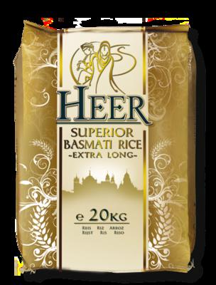 HEER LONG GRAIN BASMATI RICE 20KG (Delivery in BRUSSELS, GENT & MECHELEN ONLY!)