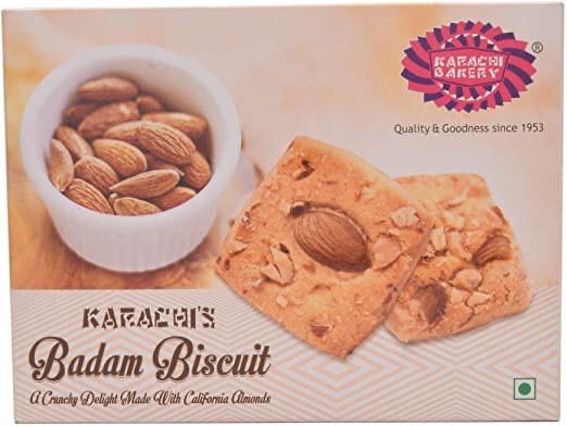 KARACHI BAKERY BADAM BISCUITS 250GM