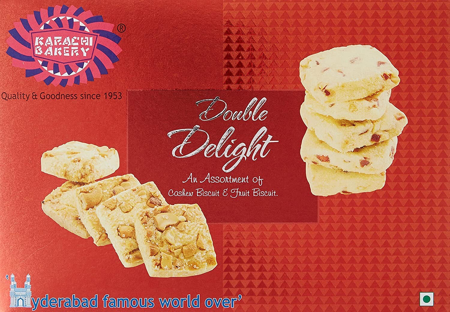 KARACHI BAKERY RED DOUBLE DELIGHT BISCUITS 400GM