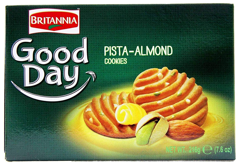 BRITANNIA GOOD DAY PISTA ALMONDS 216GM