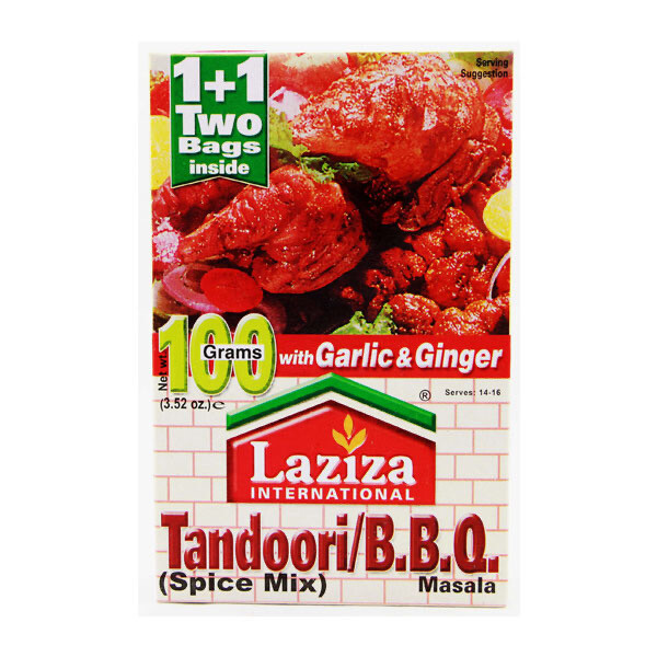 LAZIZA TANDOORI BBQ MASALA 100GM