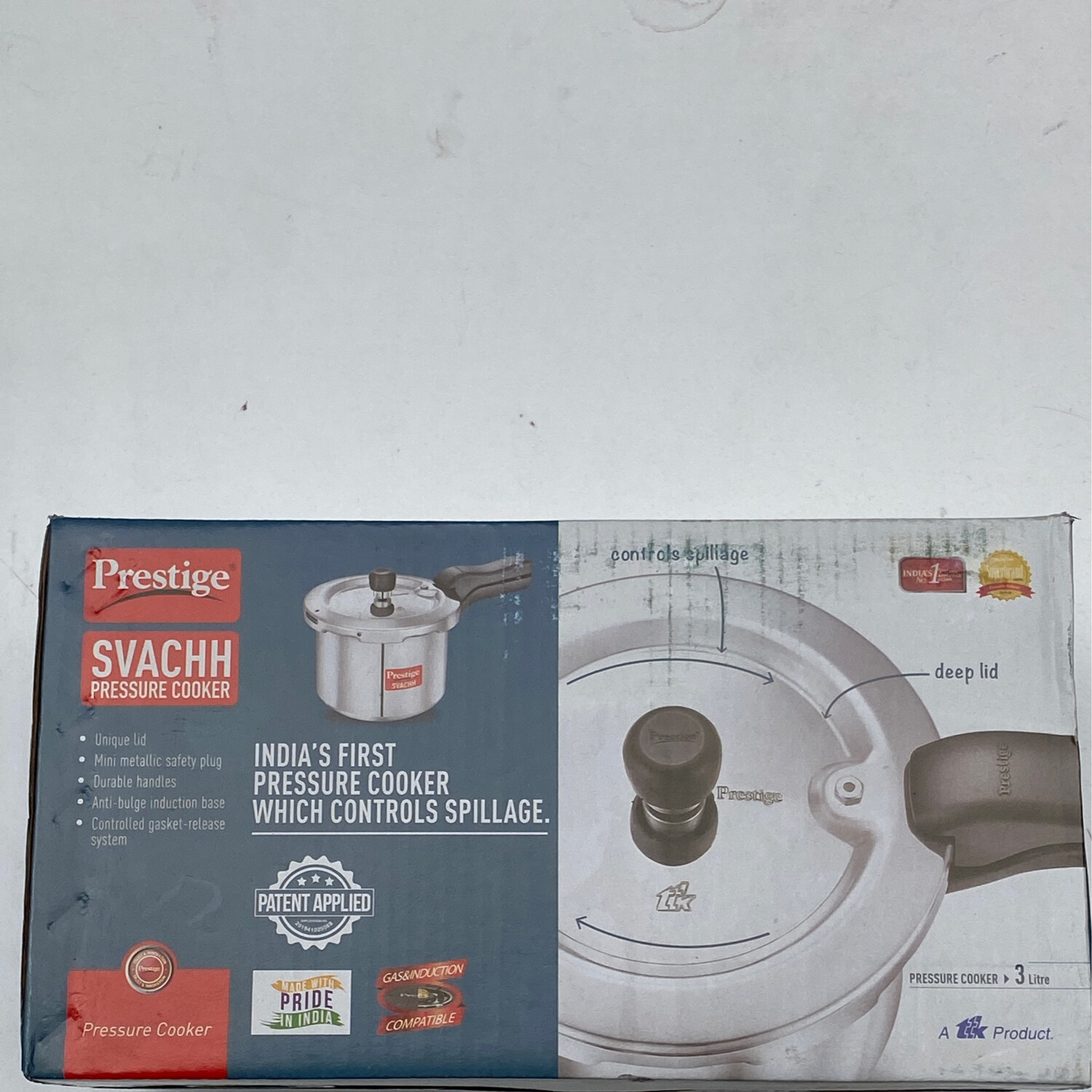 SVACCH PRESSURE COOKER 3L GAS+INDUCTION