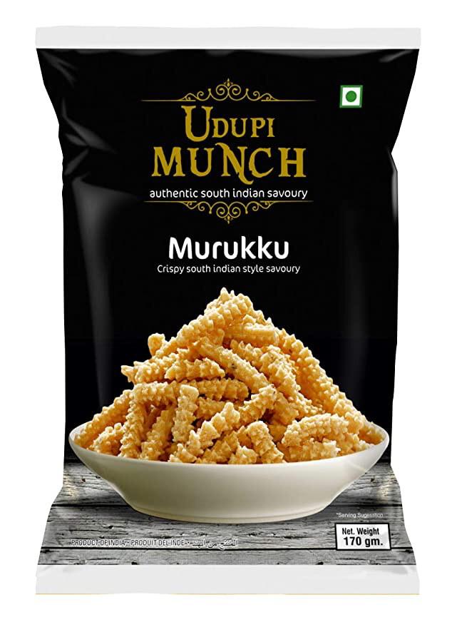 CHHEDA'S UDUPI MUNCH SALTED MURUKKU 170GM