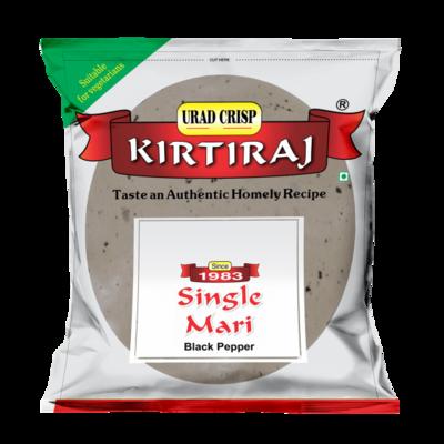 KIRTIRAJ SINGLE MARI (BLACK PEPPER) PAPAD 200GM
