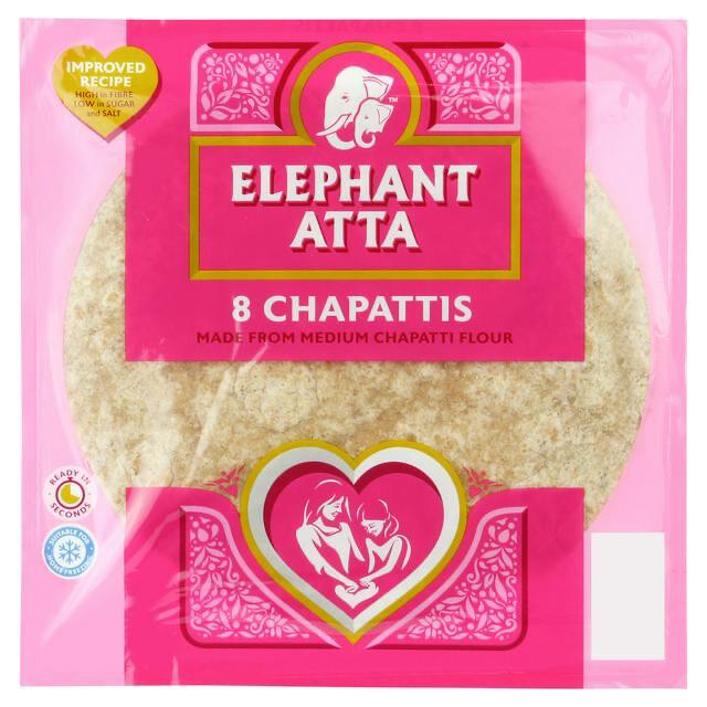 ELEPHANT CHAPATTIS 8PCS 360GM (BBD: 27/10/2021)