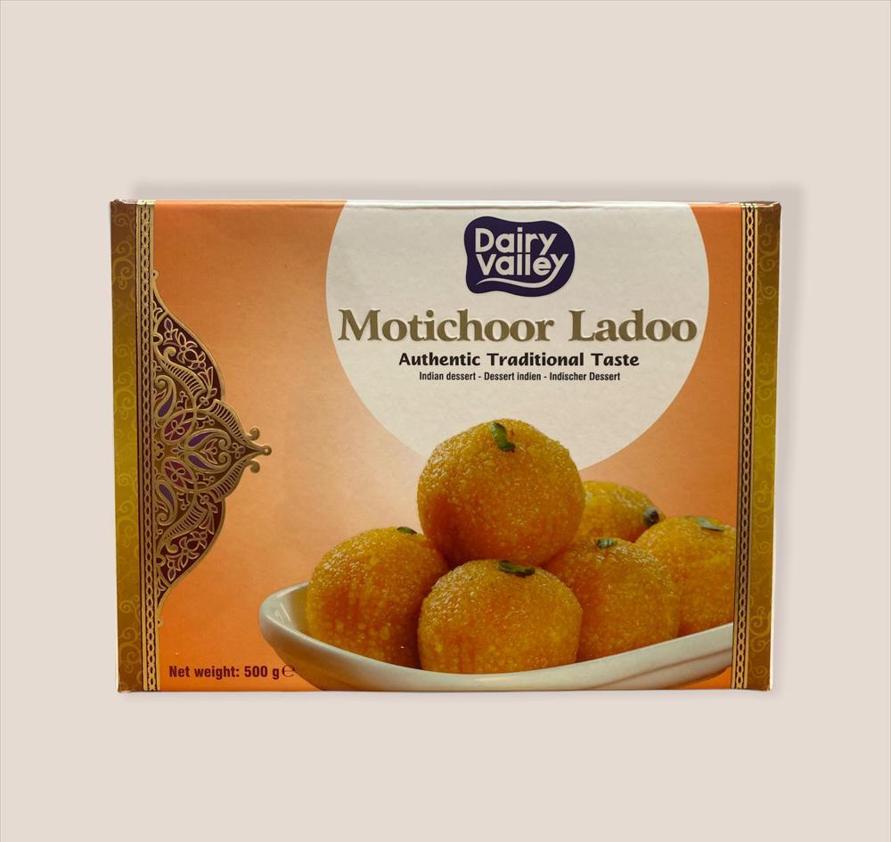 DAIRY VALLEY FRESH MOTICHOOR LADOO 500GM (Delivery in BRUSSELS, GENT, MECHELEN & ANTWERPEN ONLY!)
