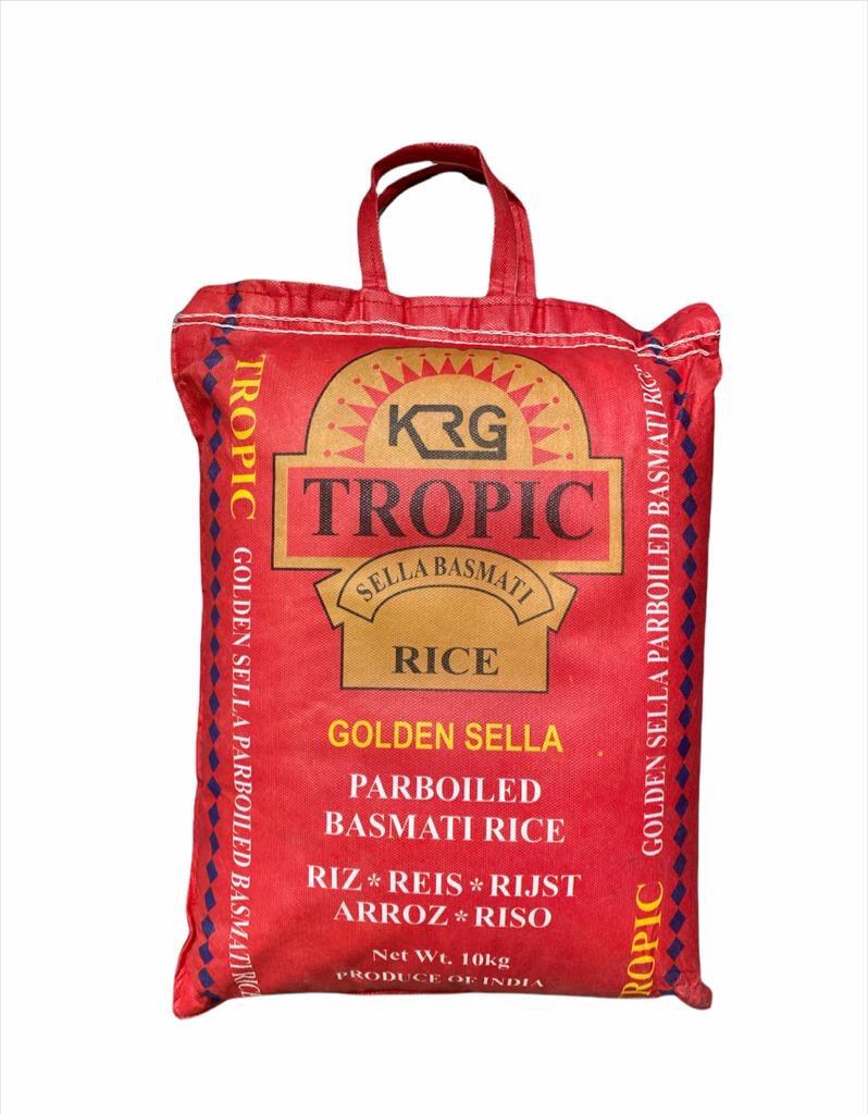 TROPIC GOLDEN SELLA PARBOILED BASMATI RICE 10KG