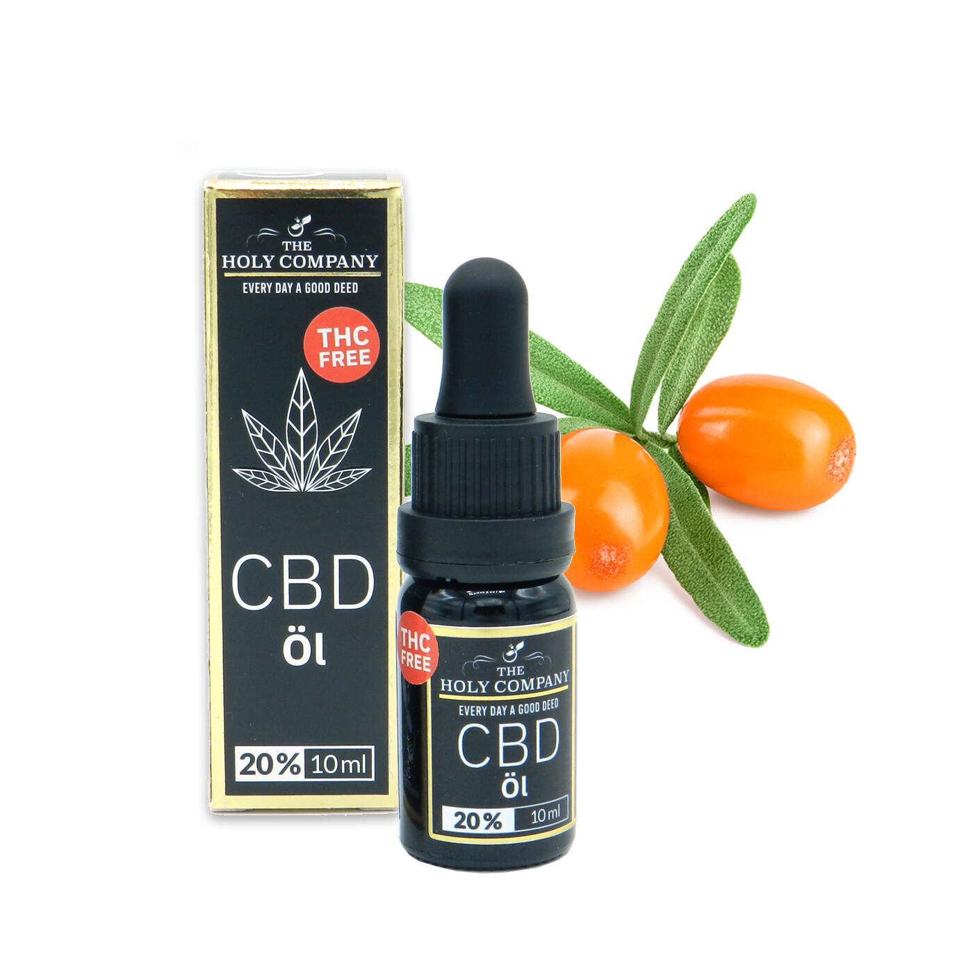 20% CBD Sanddorn-Fruchtfleisch Öl | Isolat | THC Frei