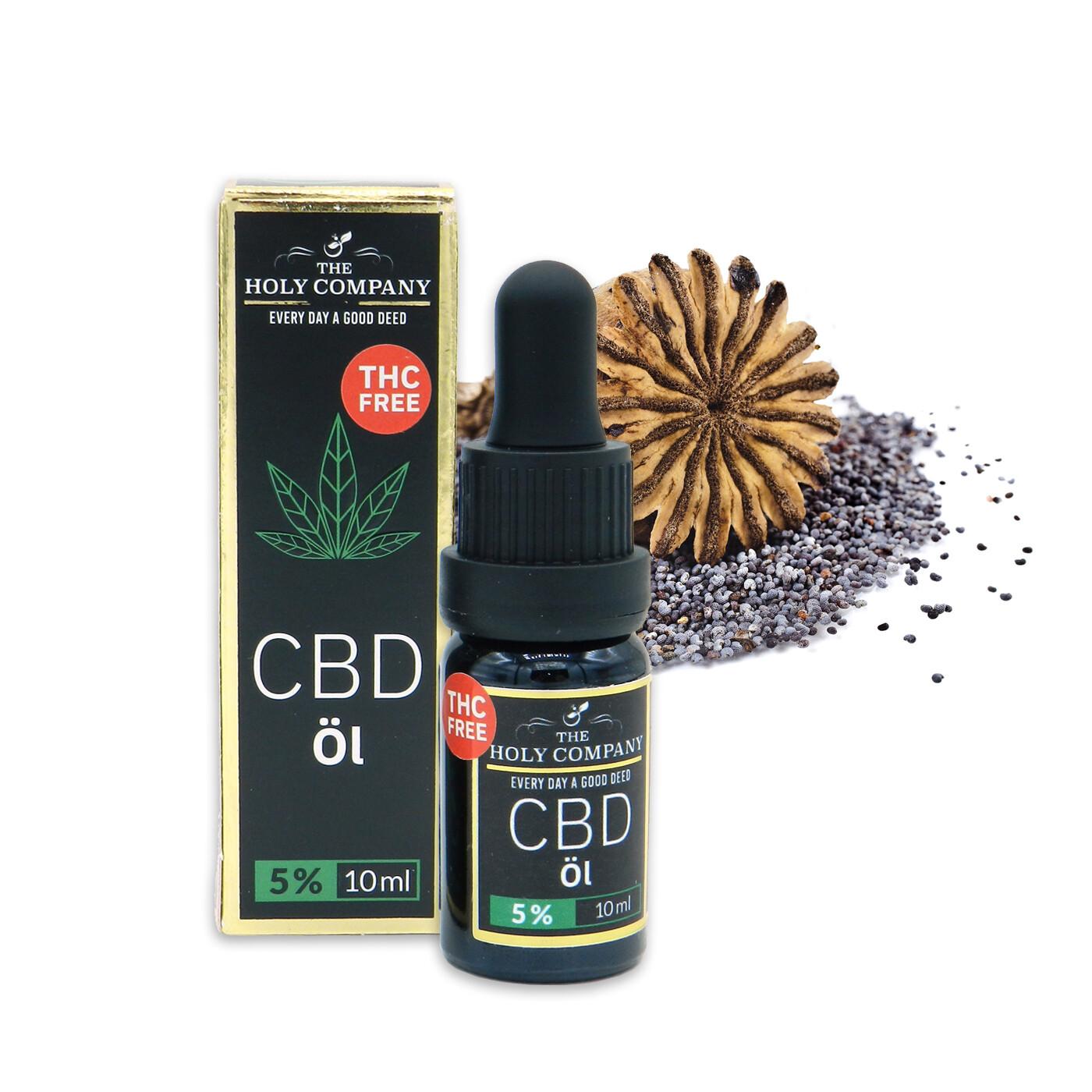 5% CBD Mohn Öl | Isolat | THC Frei