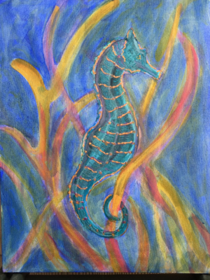 Seahorse and Coral