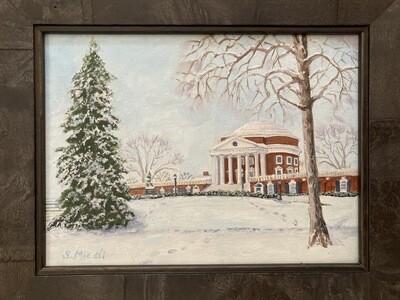 UVA Rotunda in the Snow