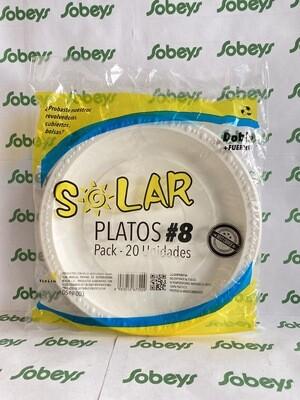 PLATOS PLÁSTICOS SOLAR #8   20 UND