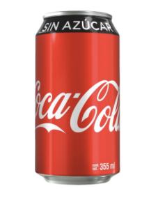 COCA COLA LATA SIN AZUCAR 354ML SODA