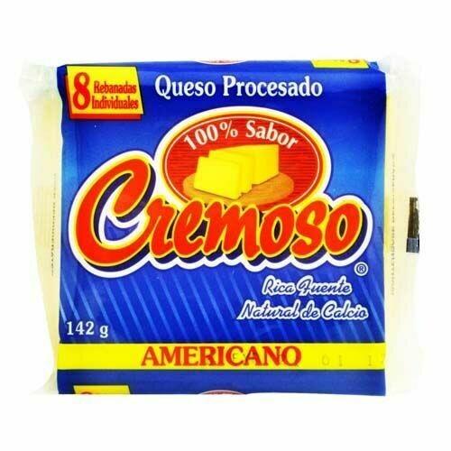 QUESO AMERICANO CREMOSO 8 REBANADAS
