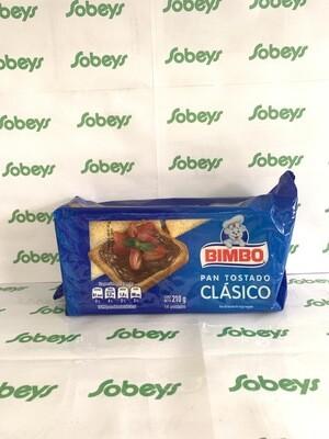 PAN TOSTADO CLÁSICO BIMBO 14UND