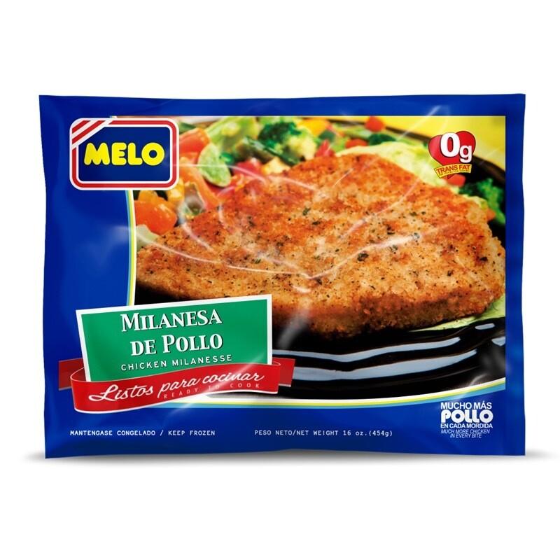 MILANESA DE POLLO MELO 454g