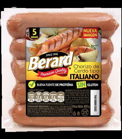 CHORIZO DE CERDO TIPO ITALIANO BERARD 5UND