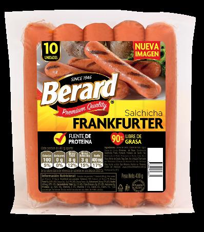 SALCHICHA FRANKFURTER BERARD 10UND