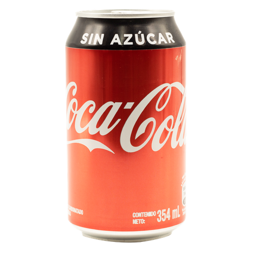 COCA-COLA SIN AZÚCAR EN LATA 354ml