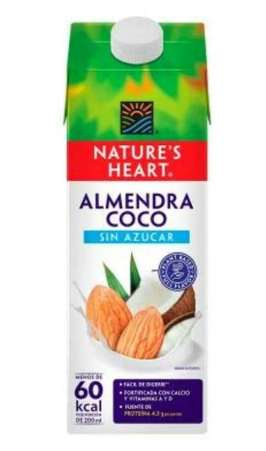 LECHE ALMENDRA COCO SIN AZÚCAR NATURE'S HEART 946ml
