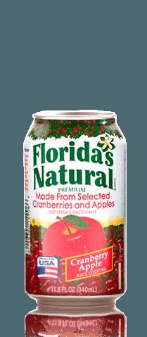FLORIDAS NATURAL CRANBERRY APPLE JUICE 340ml