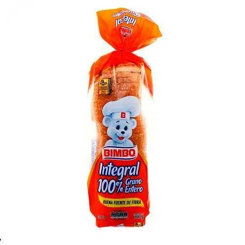 PAN INTEGRAL 100%GRANO ENTERO BIMBO