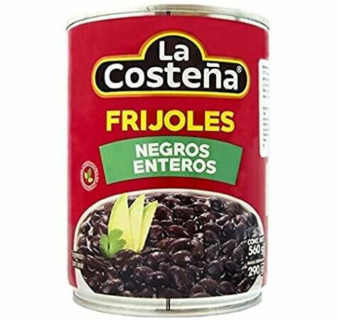 FRIJOLES NEGROS ENTEROS LA COSTEÑA 290g