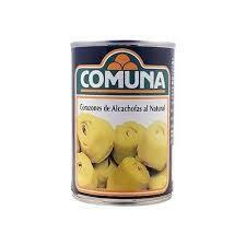 CORAZONES DE ALCACHOFAS AL NATURAL COMUNA 390g