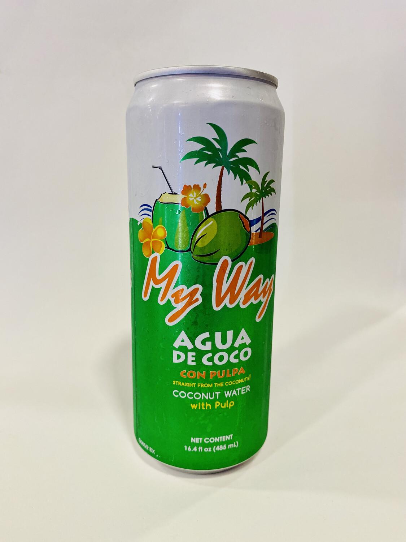 MY WAY AGUA DE COCO CON PULPA 485ml