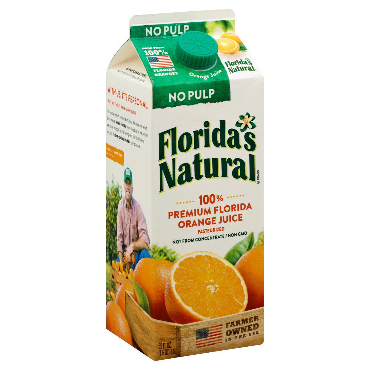 FLORIDAS NATURAL ORANGE JUICE NO PULP 1.53L