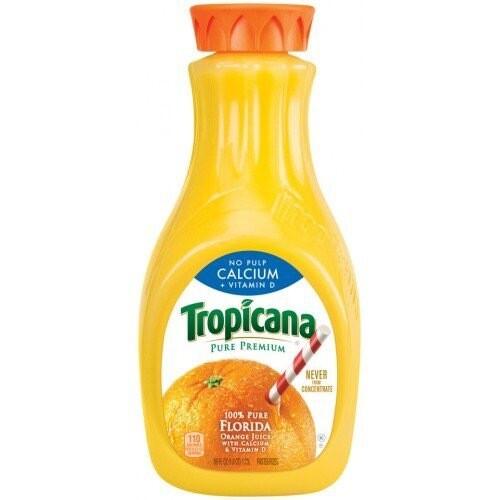 TROPICANA NO PULP CALCIUM + VITAMIN D 1.53L