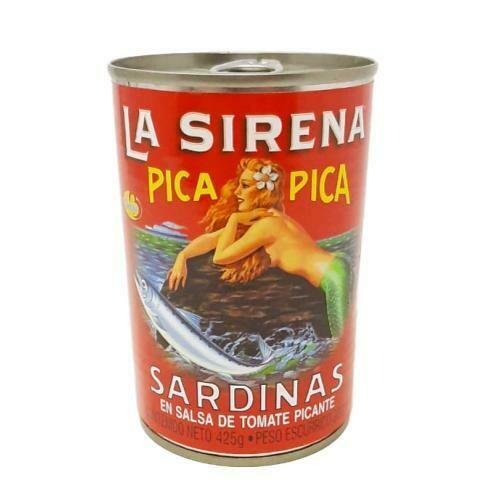 SARDINAS EN SALSA DE TOMATE PICANTE LA SIRENA 425g