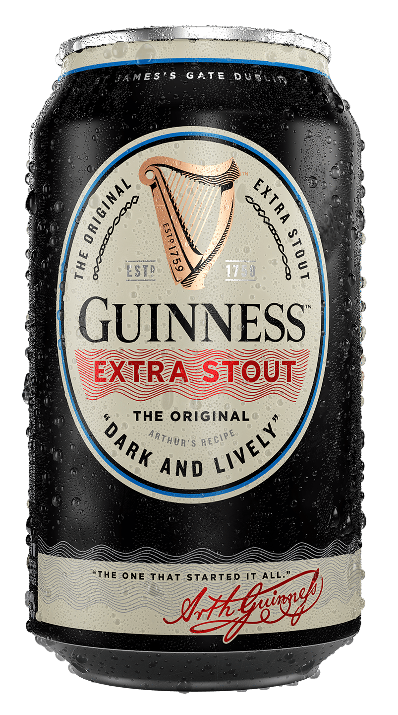 GUINNESS EXTRA STOUT DARK AND LIVELY Alc. 5.6% vol. 355ml