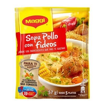 SOPA DE POLLO CON FIDEOS MAGGI 57g