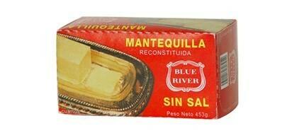 MANTEQUILLA RECONSTITUIDA BLUE RIVER  SIN SAL 4 TIRAS