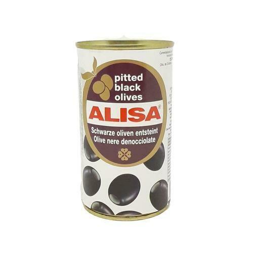 ACEITUNAS NEGRAS DESHUESADAS ALISA 320g