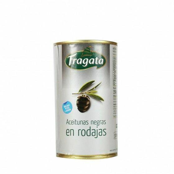 ACEITUNAS NEGRAS EN RODAJAS FRAGATA 350g