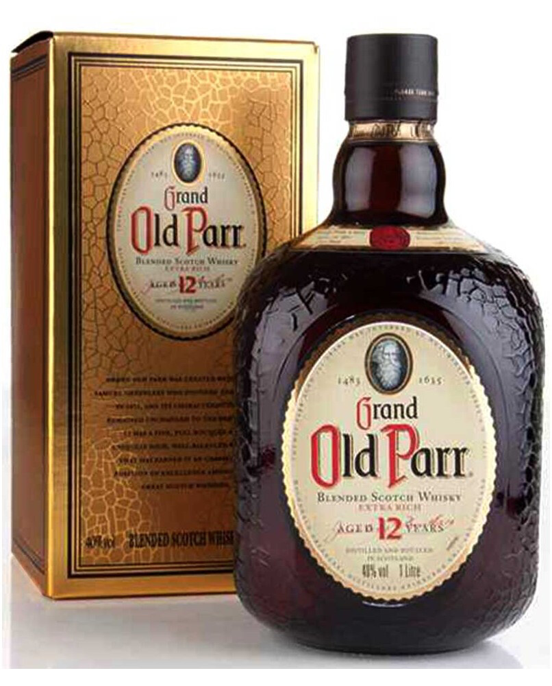 GRAND OLD PARR 12 AÑOS BLENDED SCOTH WHISKY Alc. 40% Vol. 1L