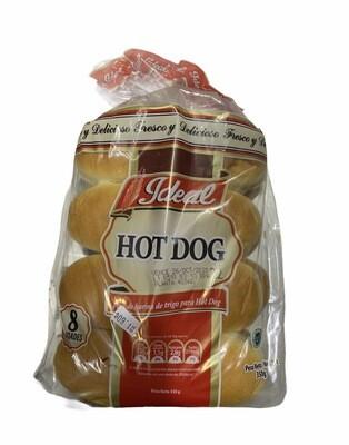 PAN DE HOT DOG IDEAL 8UND