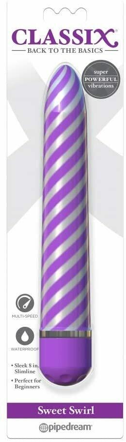 Sweet Swirl Vibrator - Purple