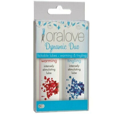 Oral Love Dynamic Duo: Warming and Tingling Lickable Lubes (Dual Pack)