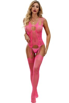 Pink One-Piece Body Tight Stockings