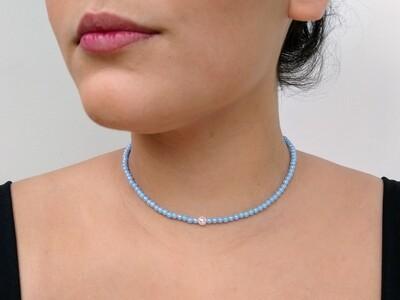 Choker de Bolinhas - Azul Candy
